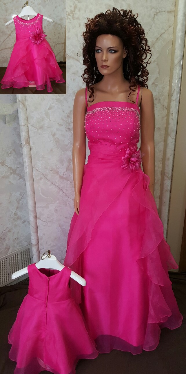 Hot pink and black bridesmaid dresses dress yp for Black and pink wedding dress