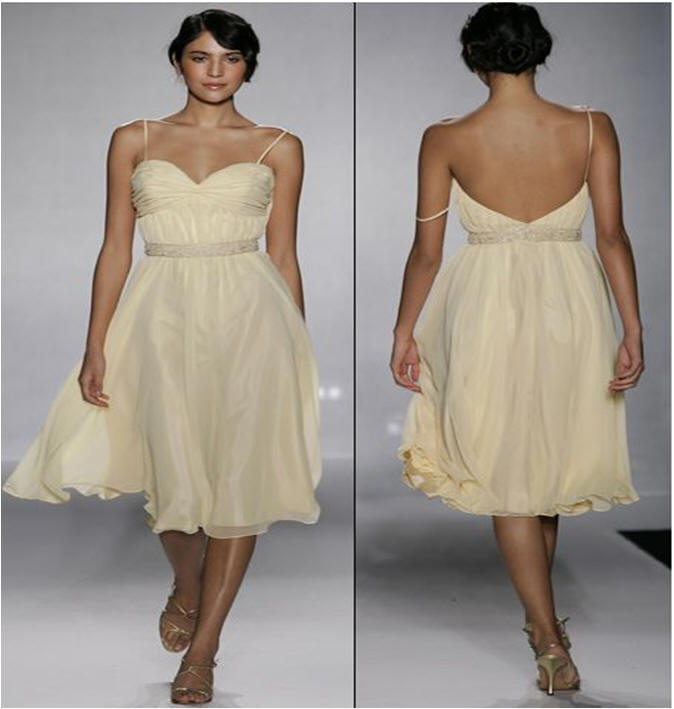 short champagne bridesmaid dresses with straps