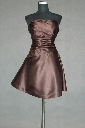 chocolate short bridesmaid dress