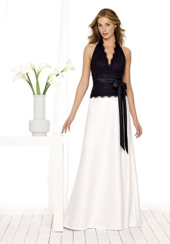 black and white formal wear