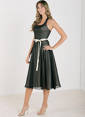 short black chiffon bridesmaid dresses
