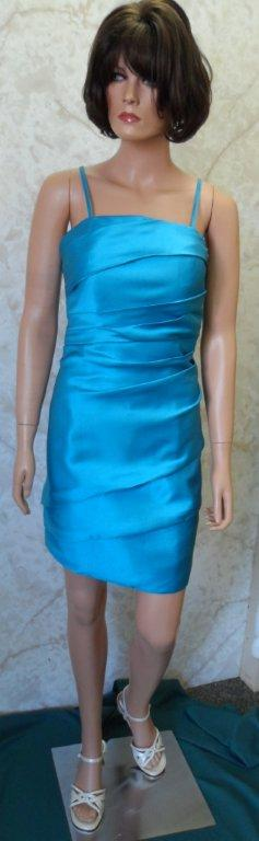 short turquoise bridesmaid dress