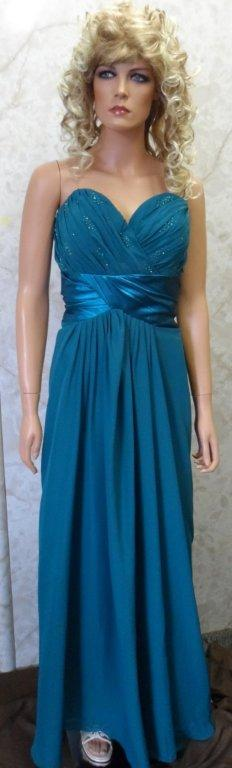 teal blue chiffon bridesmaid dress