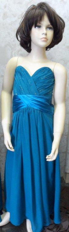 teal sweetheart flowergirl dress
