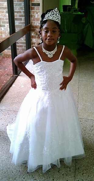 Beaded embroidery flower girl dress for Matching wedding and flower girl dresses