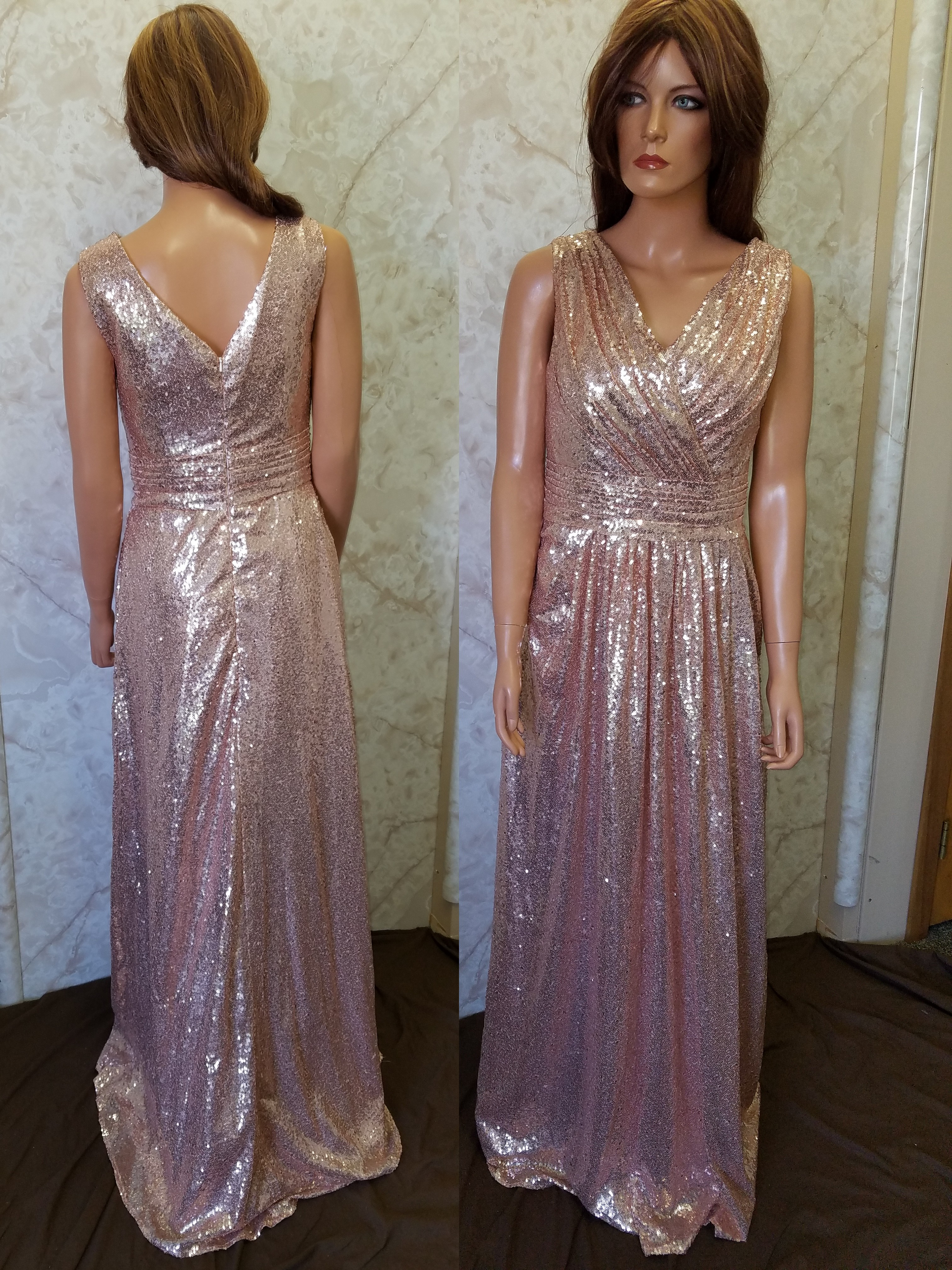 Gold sequin bridesmaid dresses rose sequin dress ombrellifo Choice Image