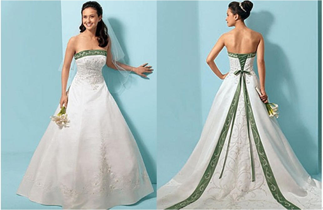 bridal style and wedding ideas: Green Wedding Dresses