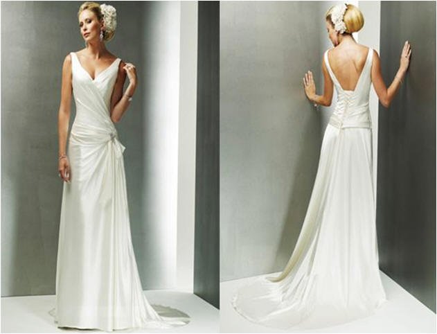 Simple Wedding Dresses Low Back: Wedding Dress With Square Back