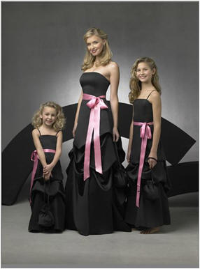 black wedding party dresses