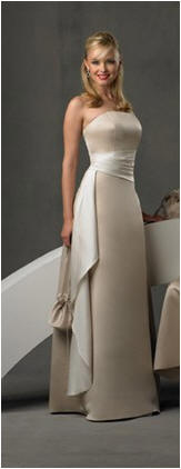long bridesmaid dress with sash