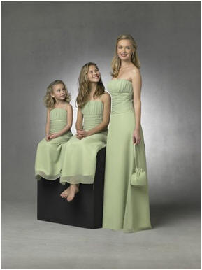 sage green wedding party dresses