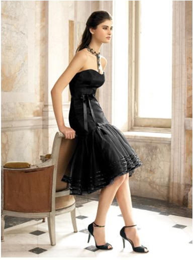 black short junior bridemaids dresses
