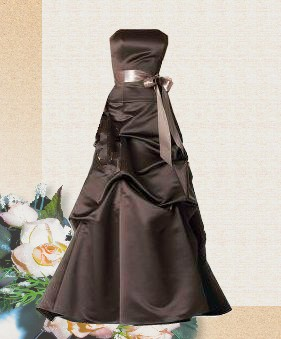 long brown birdesmaid dress
