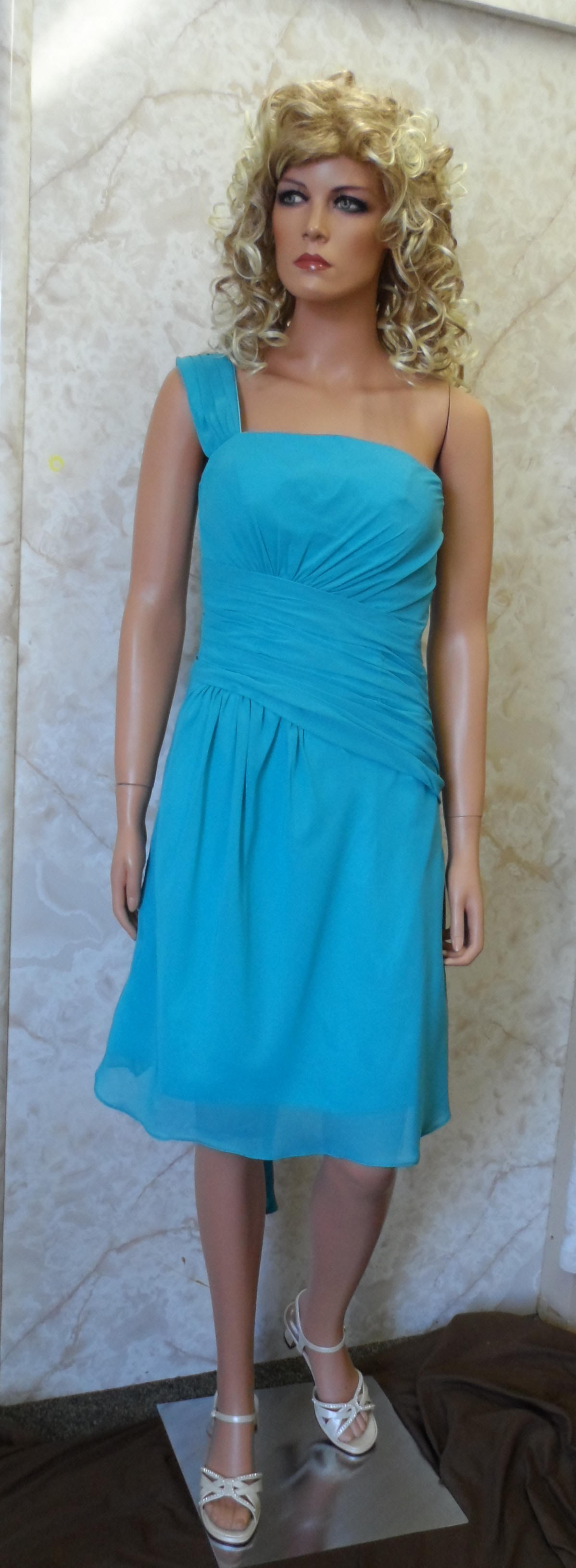 teal bridesmaid dress