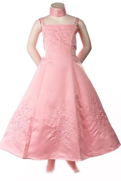 cheap pink flower girl dress