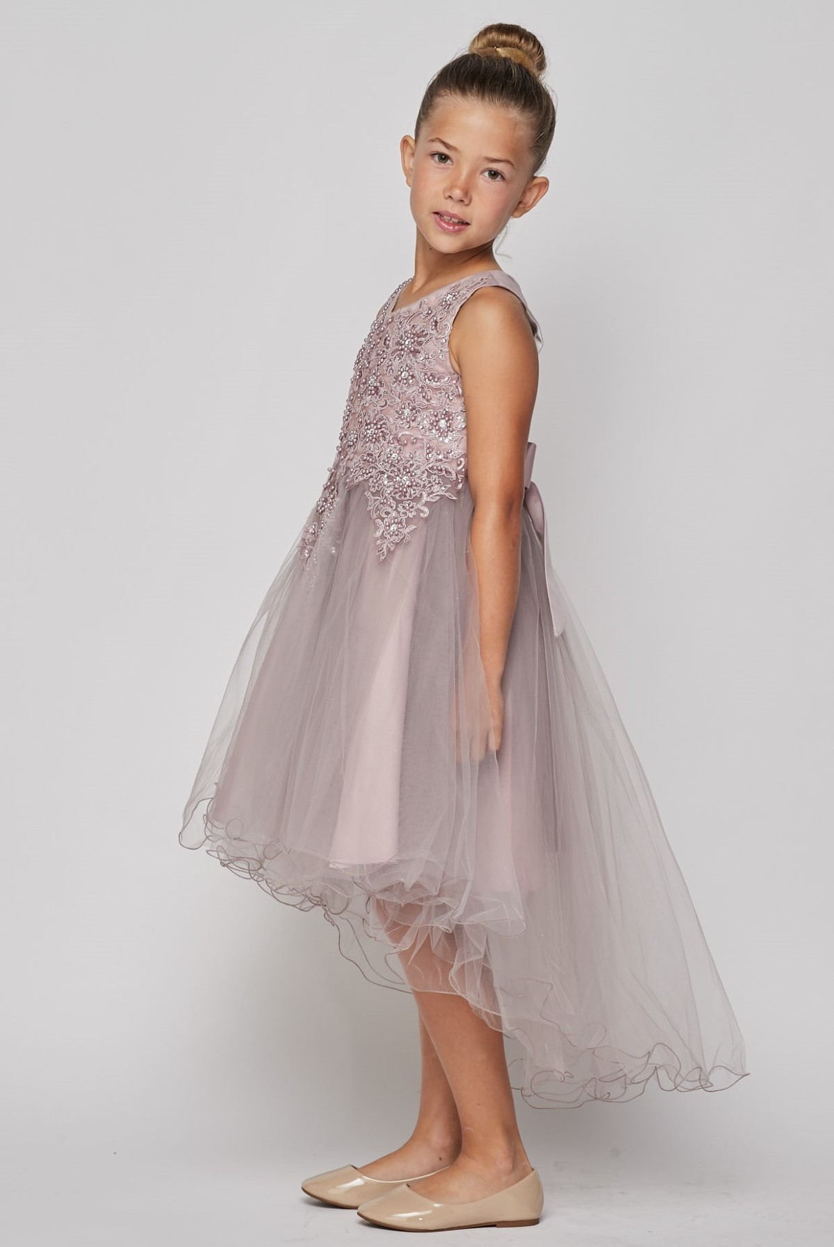 NEW Kid Flower Girl Pageant Graduation Prom Formal Dress Navy Blue SZ 3-10 Z57
