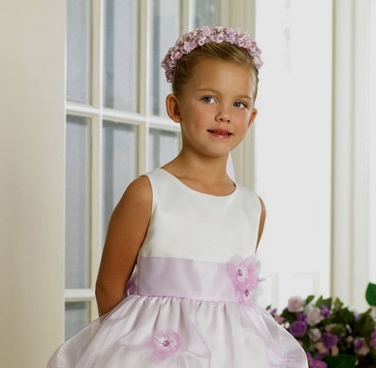 Lilac Pick up skirt wedding dress