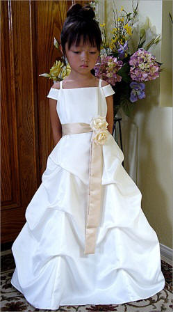 pick up flower girl dress