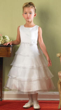 tiered skirt, chiffon, flower girl, communion, pageant dress