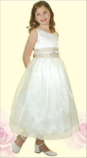 Ivory cheap flower girl dresses