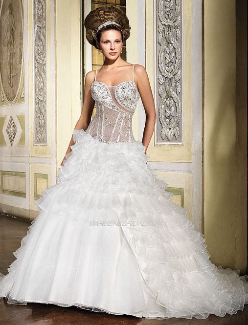 Sexy see through corset bridal gown for See through corset wedding dresses