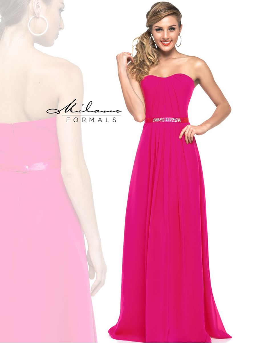 Navy and Fuschia Bridesmaid Dresses