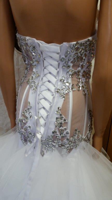 Wedding  Sheer Wedding Dress   Jeweled.