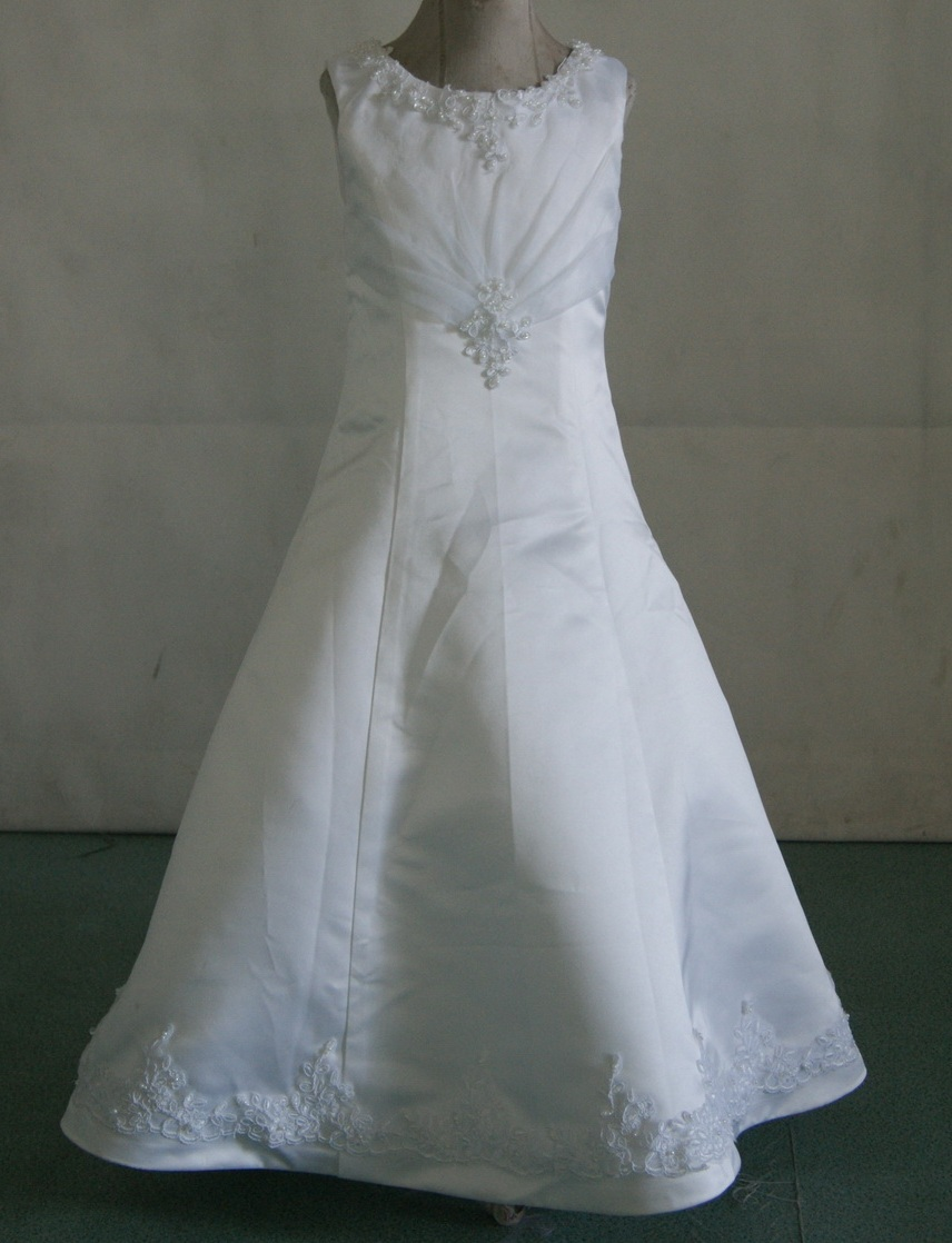 beaded applique miniature bridal gown