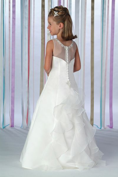 white junior organza dress back