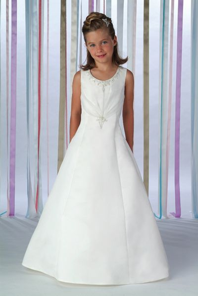 white junior organza dress
