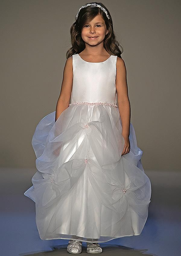 sleeveless pickup flower girl dress