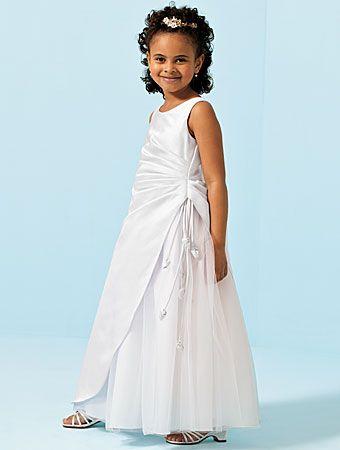 8717b250c61 White floor length flower girl dresses ...