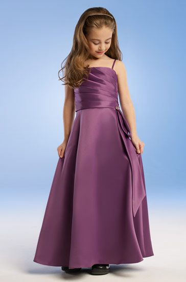 Purple pageant gowns.