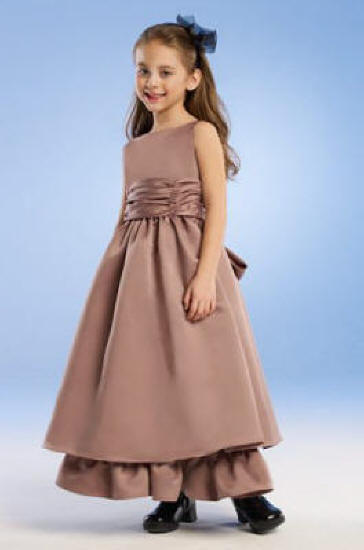 girls layered dress with ruffle hem