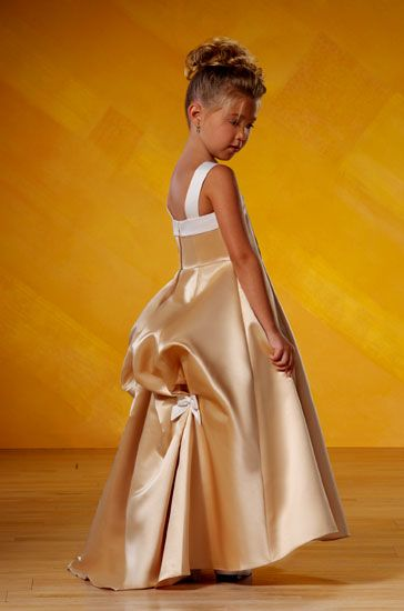 gold pageant dresses for girls