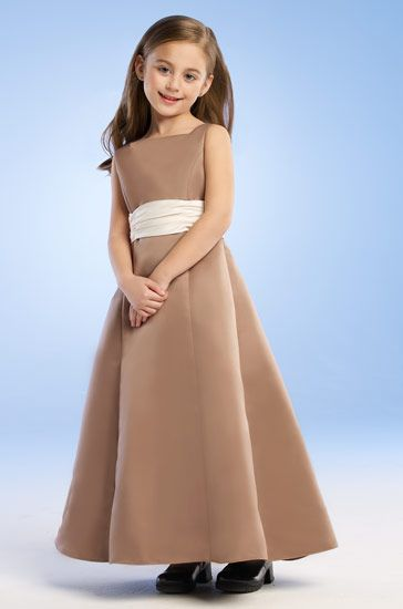 brown formal girls dress