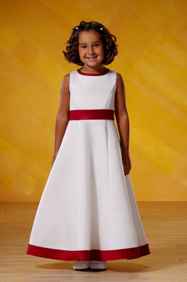 red and white junior bridesmaid dresses