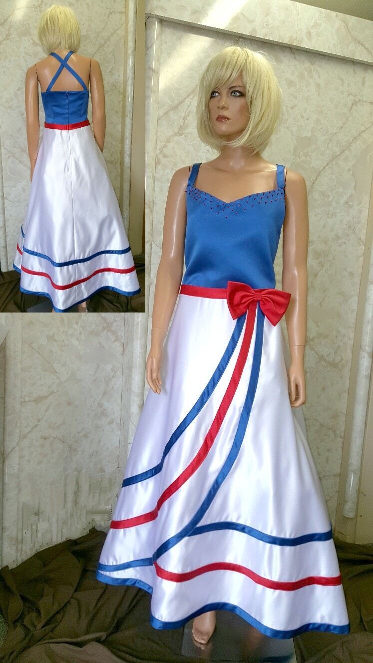 Red white and blue dresses for women images