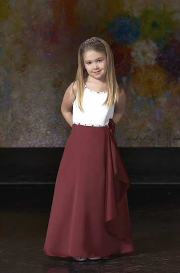 Girls two toned long dress