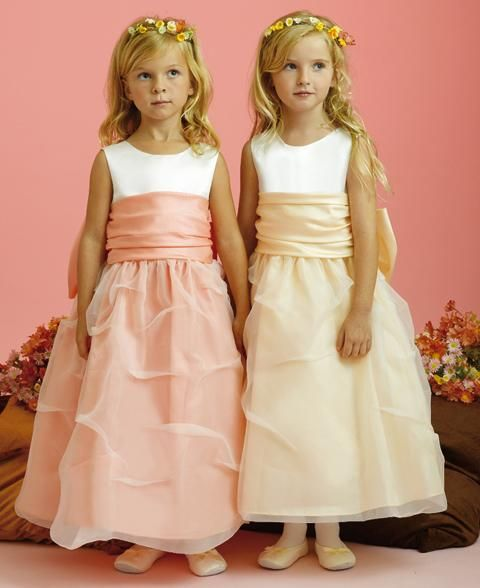 girls peach pick up dress