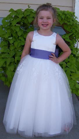 Tulle flower girl dress with color sash tulle flower girl dress mightylinksfo