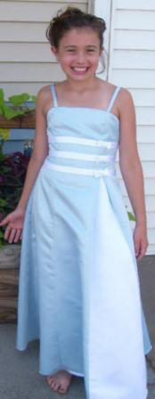 baby blue custom bridesmaid dress