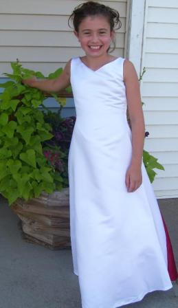 white junior bridesmaid dresses