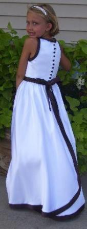 black and white halter top flower girl dress