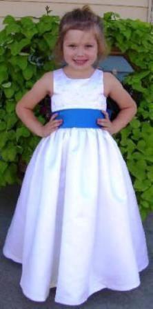 126d161b280 White Flower Girl Dress - Embroidered Satin.