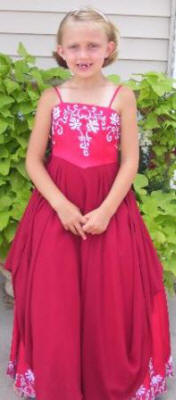 red junior bridesmaid dresses