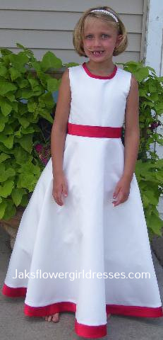 red and white custom junior dresses