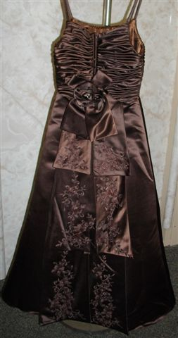 chocolate ruched dress