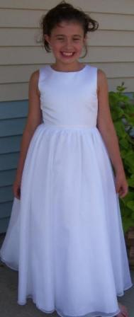 Basic white flower girl dress