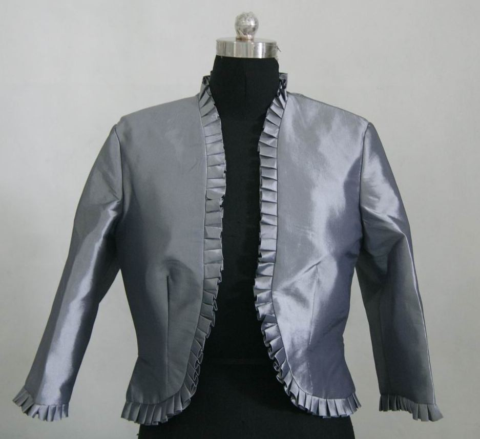 pewter ruffle jacket